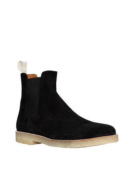 Common Projects Suede Chelsea Boot - Black/White