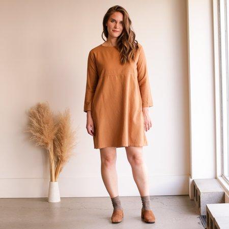 Me and Arrow Mid Sleeve Dress - Tan Flannel