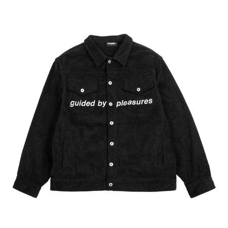PLEASURES GUIDED CORDUROY TRUCKER JACKET - BLACK