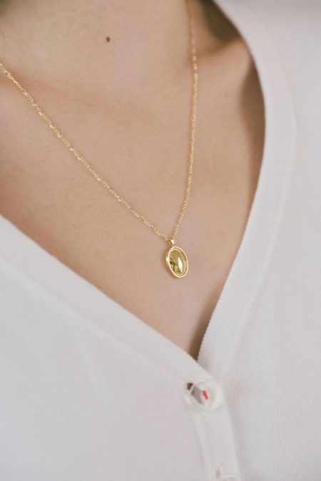 Wolf Circus Theo Pendant Necklace - 14k Gold
