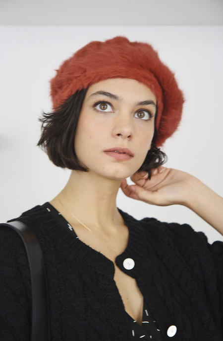 Seoul Collective Angora Beret - Maroon