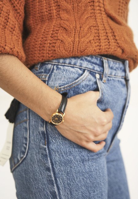 Casio Leather Strap Watch - Black/Gold