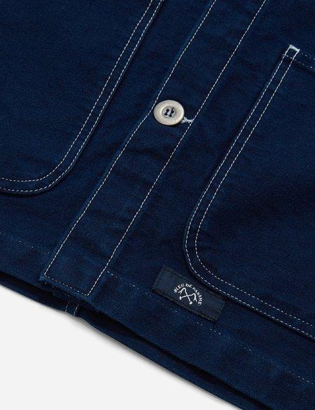 Bleu De Paname Pigment Dyed Counter Jacket - NAVY BLUE