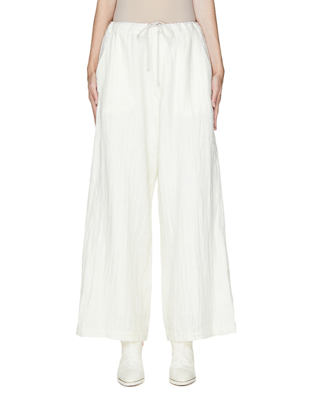 Y's Wool & Linen Trousers - Off-White