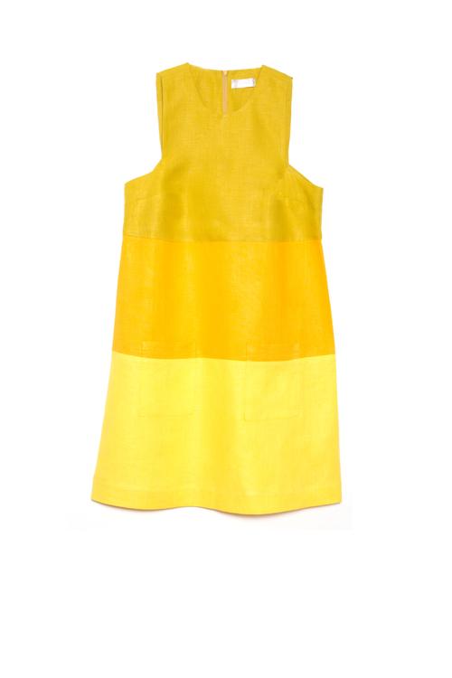 Three-tone Dress - Citrus