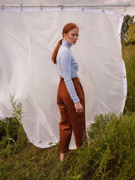 Odeyalo Adamo Turtleneck Top - Powder Blue