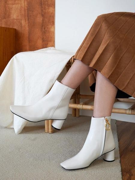 RACHEL COX Belery Ankle Boots - Ivory