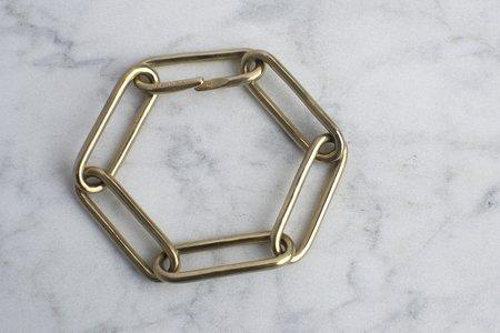 Carol Workinger Large Oval Link Bracelet - Matte Brass
