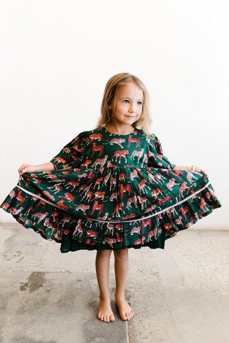 kids Pink Chicken Brea Dress - Evergreen Cheetah