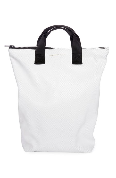 Unisex Ampersand as Apostrophe Backpack Tote - CAT'S PAJAMAS WHITE