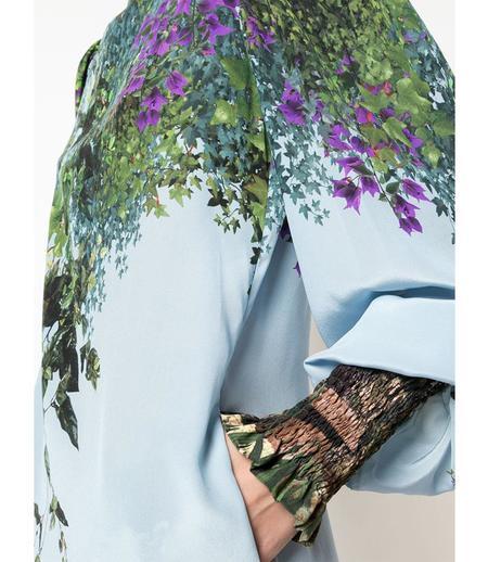 Fete Imperiale Yse Jardin Silk Dress - Jardin