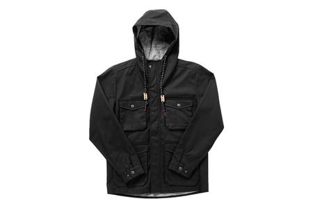 Bridge & Burn Fraser Herringbone Jacket - Black