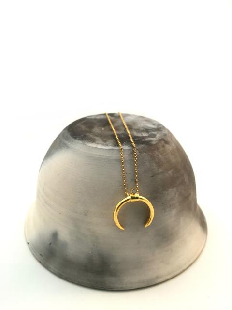 MDG Gold Horn Crystal Necklace