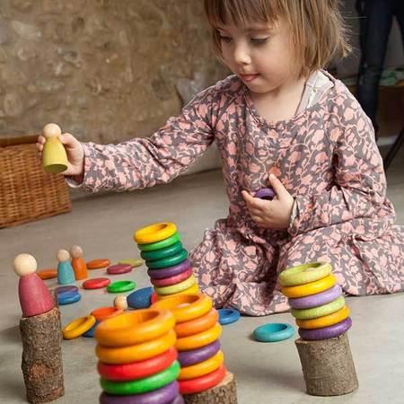 Kids Grapat Nins Carla Teaching Game with Figures Set