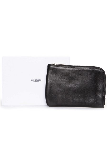 RON HERMAN Zip Pouch Wallet - Black