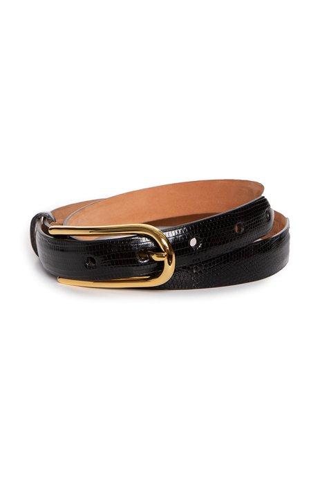 W. KLEINBERG Lizard Belt with Shiny Buckle