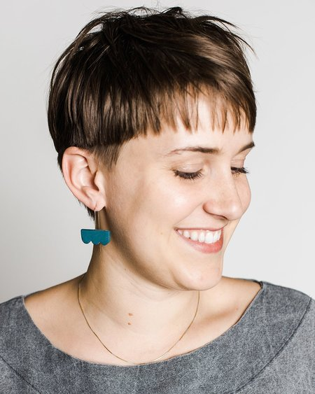 Barrow Cloud Drop Earrings - Naples Blue