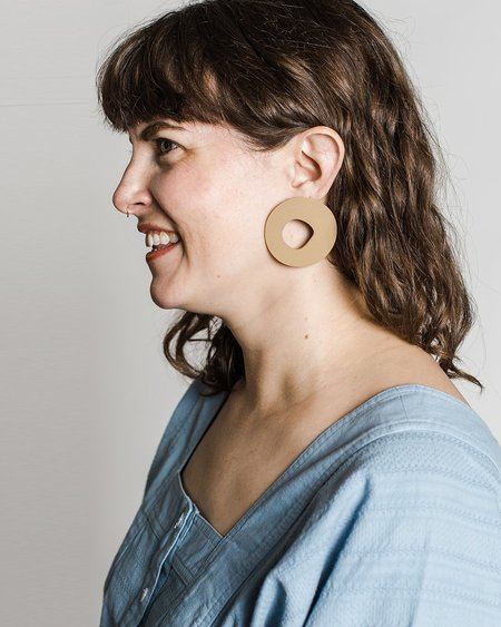 Hello Zephyr Prazeres Earrings - tan