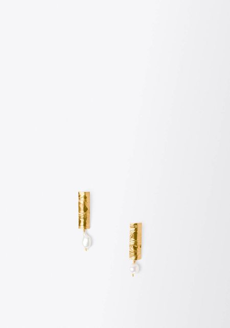 Leigh Miller Short Erte Earrings
