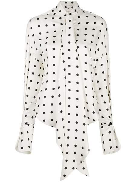 PETAR PETROV Beverly Silk Blouse - Ivory/Black Polka Dot