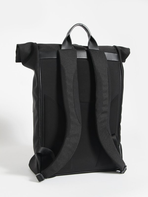 genuine shoes quality closer at Troubadour Rolltop Rucksack - Black on Garmentory