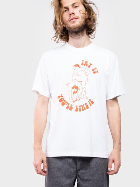 Carne Bollente Try it you'll like it T-shirt - White