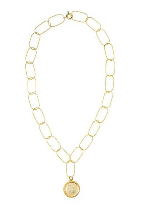 Hermina Athens Hercules Statement Necklace - Yellow Gold