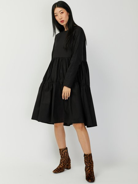 Elaine Hersby Holly Longsleeve Dress - Black