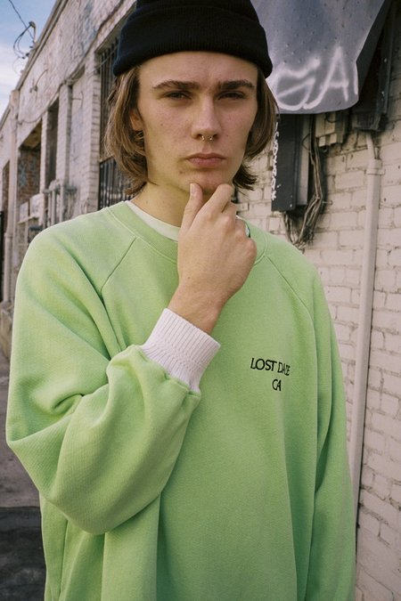 Lost Daze Trip Crew Sweatshirt - Green