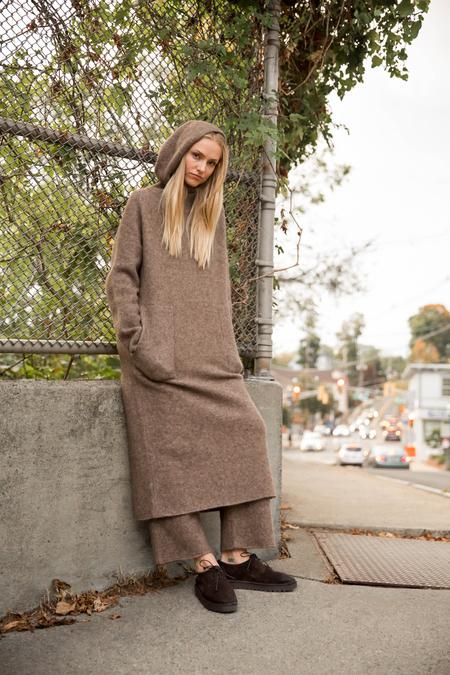 Lauren Manoogian Hood Dress in Morel