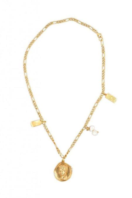 Hermina Athens Hermis Lustre Necklace - Gold
