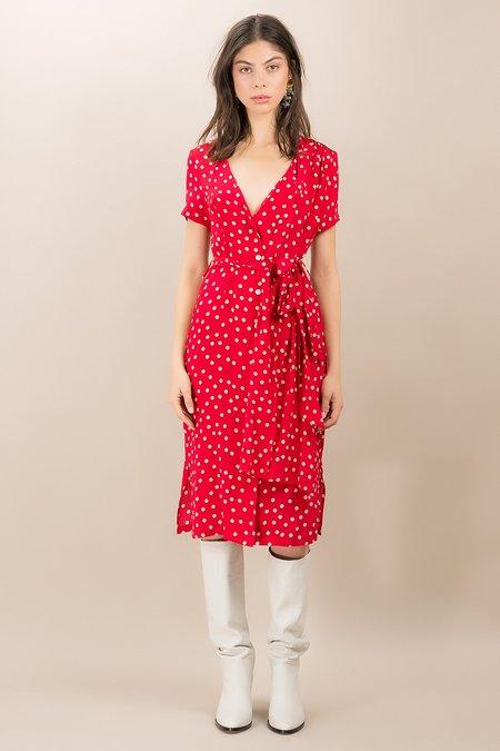 Kristinit Radziwill Dress - Red Polka Dot