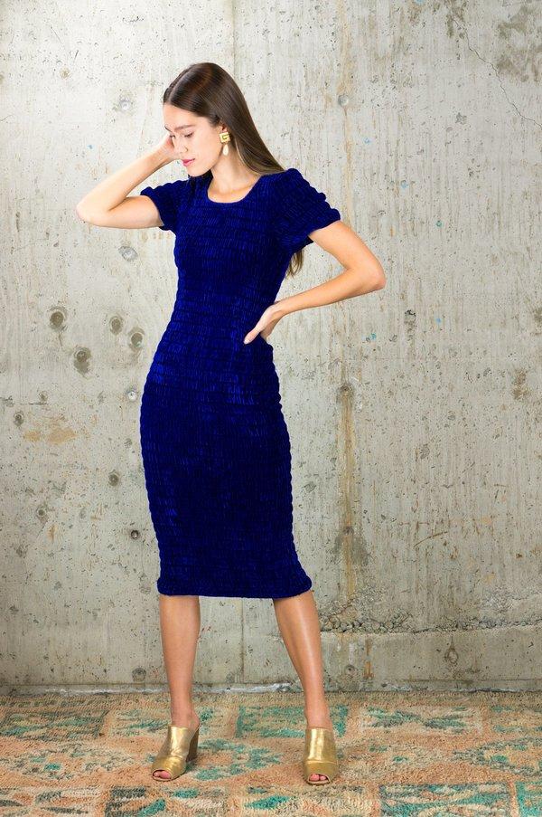 Kristinit Zia Dress - Blue Velvet