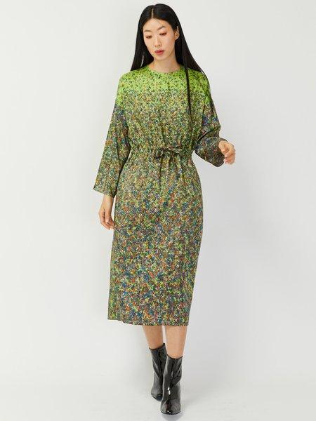 Anntian Simple Dress - Gradient Flowers
