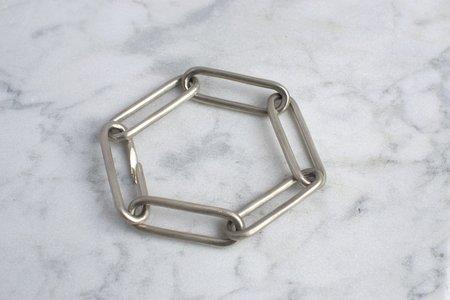 Carol Workinger Large Oval Link Bracelet - Silver