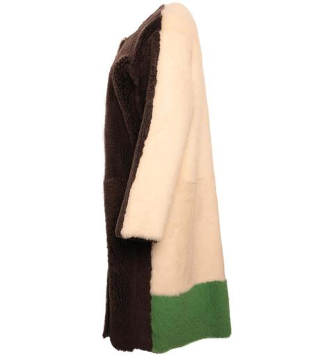 Karl Donoghue Reversible Cashmere/Lambskin Colour Block Coat - Chantill