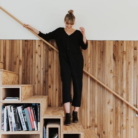 Happy French Gang Jumpsuit - Black
