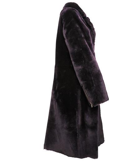 Zinga Angela Reversibale Leather Coat - Purple