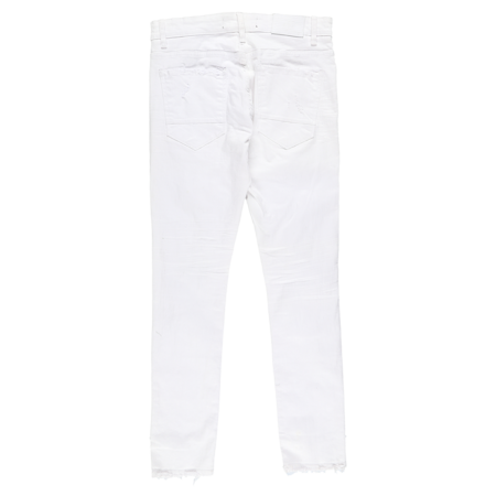 Jordan Craig Skinny Distressed Denim Jeans - White