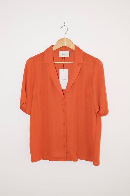 Just Female Lift Shirt - Burnt Orange