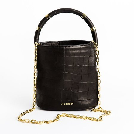 J. Lowery Max Mini Bag - Black Croc