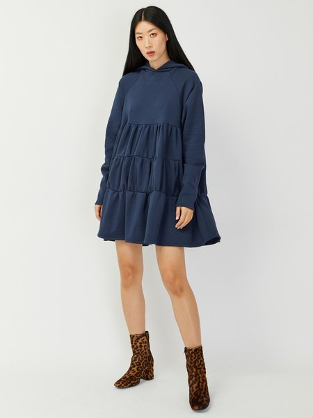 Elaine Hersby Ada Hoodiedress - Washed Blue