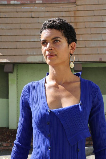 JACQUEMUS La Robe Maille Azur - Blue