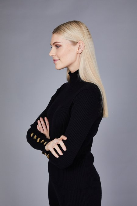 Native Youth The Layla Knit Top - Black
