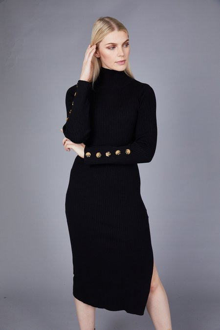 Native Youth The Layla Knitted Dress - Black