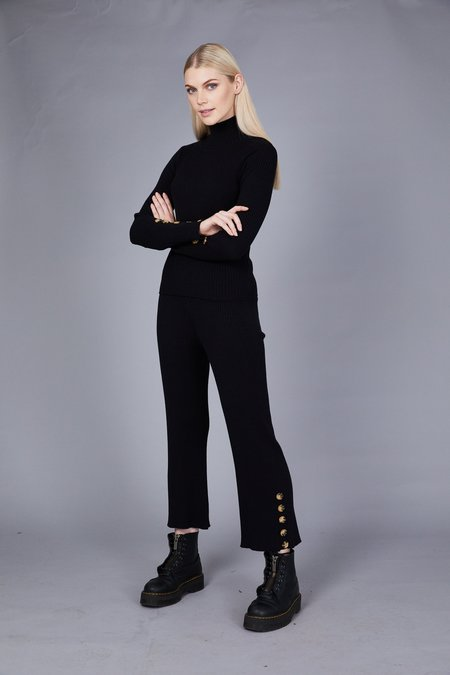 Native Youth the Layla Knitted Pant - Black