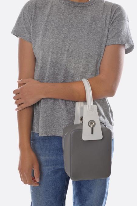 Bonastre Brick Bag - Grey/White
