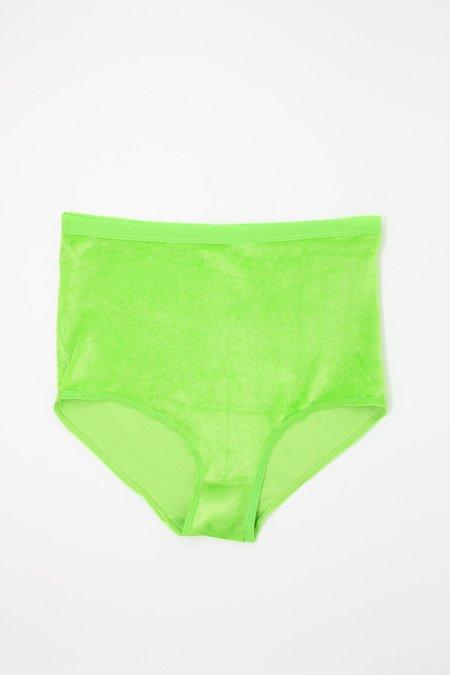 Baserange High Waist Bell Pants - Ramie Green
