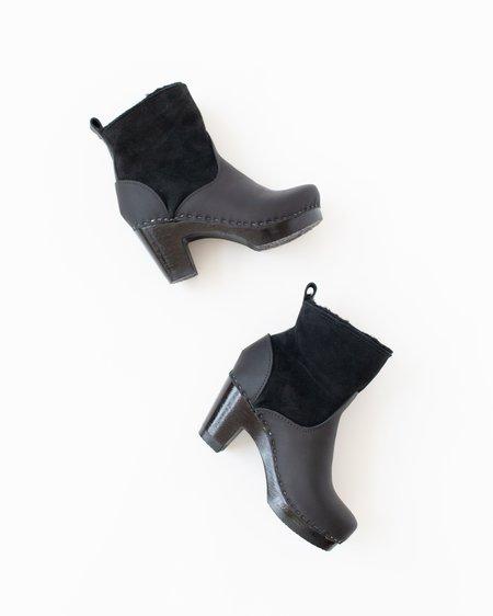 No.6 Shearling Clog Boot - Black Suede High