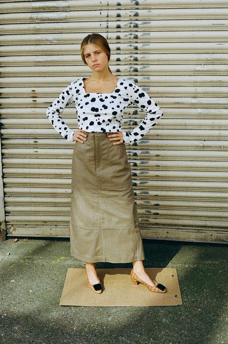 HOSBJERG Ollie Leather Skirt - Camel